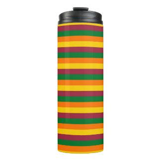 Sri Lanka flag stripes lines colors pattern Thermal Tumbler