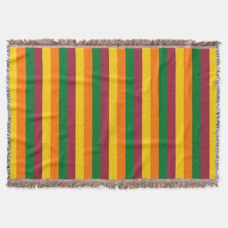 Sri Lanka flag stripes lines colors pattern Throw Blanket