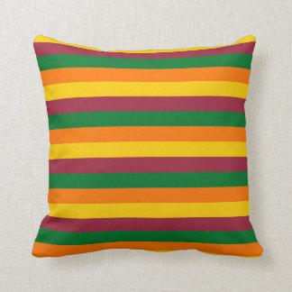 Sri Lanka flag stripes lines colors pattern Throw Pillow