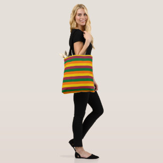 Sri Lanka flag stripes lines colors pattern Tote Bag