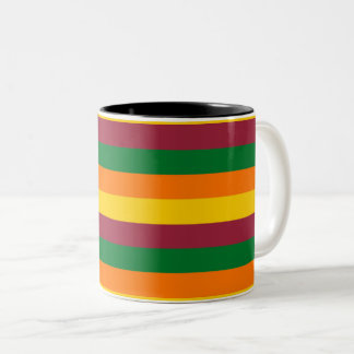 Sri Lanka flag stripes lines colors pattern Two-Tone Coffee Mug
