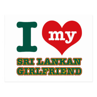 sri Lanka Girlfriend Postcard
