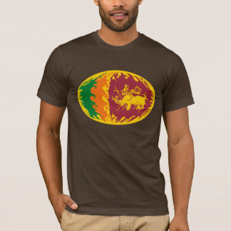 Sri Lanka Gnarly Flag T-Shirt