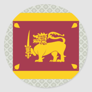 Sri Lanka High quality Flag Classic Round Sticker