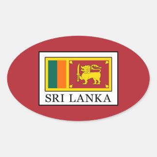 Sri Lanka Oval Sticker
