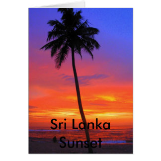 Sri Lanka Sunset Card