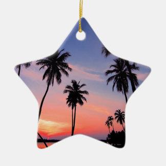 Sri Lanka Sunset Ceramic Ornament
