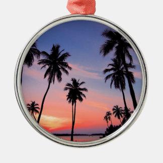 Sri Lanka Sunset Metal Ornament
