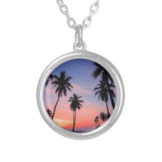 Sri Lanka Sunset Silver Plated Necklace