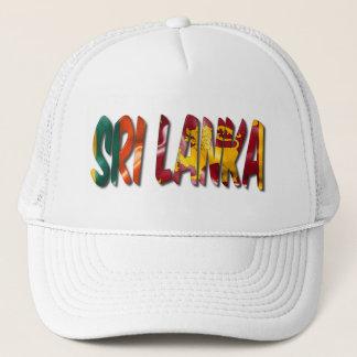 Sri Lanka Word With Flag Texture Trucker Hat