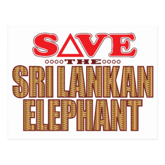 Sri Lankan Elephant Save Postcard