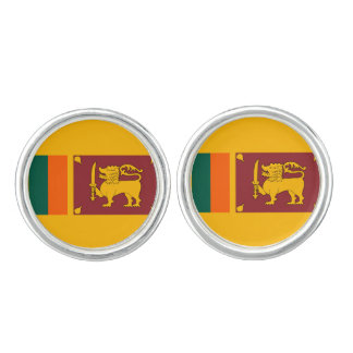 Sri Lankan flag Cufflinks
