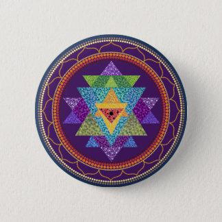 Sri Yantra 2 Inch Round Button