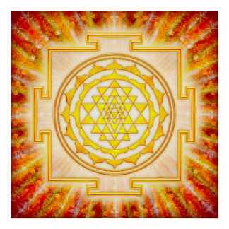 Sri Yantra - Artwork light Poster