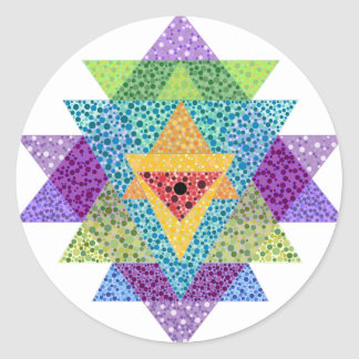 Sri Yantra Classic Round Sticker