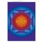 SRI YANTRA - FLAME CARD