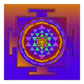 SRI YANTRA full colored + your ideas Poster