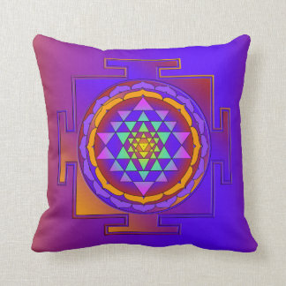 SRI YANTRA full colored + your ideas Throw Pillow