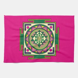Sri Yantra Mandala Kitchen Towel