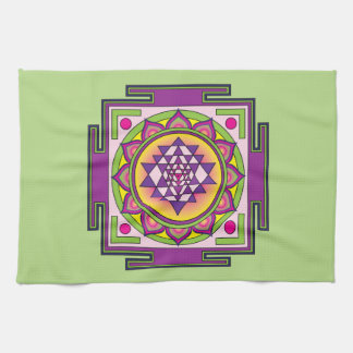 Sri Yantra Mandala Kitchen Towel