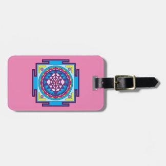 Sri Yantra Mandala Luggage Tag