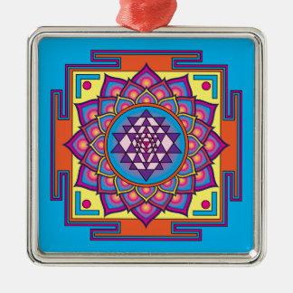 Sri Yantra Mandala Metal Ornament