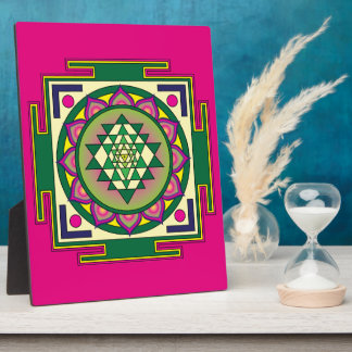 Sri Yantra Mandala Plaque