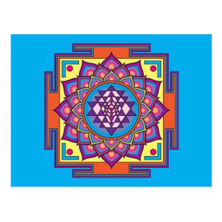 Sri Yantra Mandala Postcard