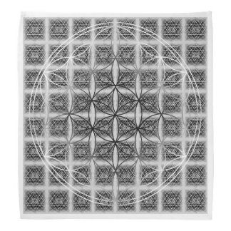 Sri Yantra Pattern with Flower of Life Bandana