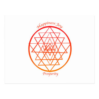 Sri Yantra prosperity Postcard