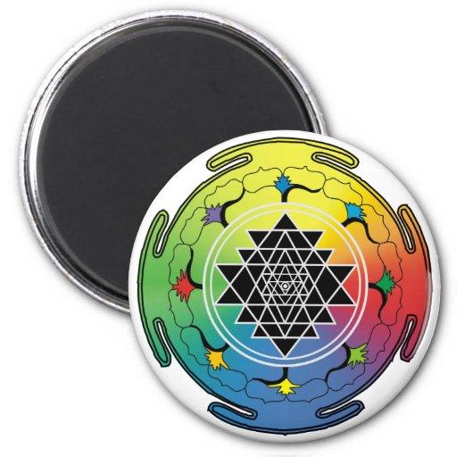 Sri Yantra Rainbow Magnet
