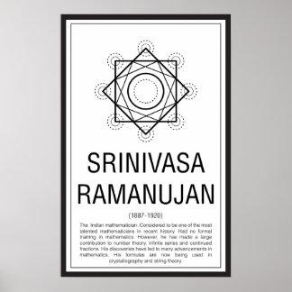 Srinivasa Ramanujan Poster