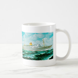 ss Bergensfjord at Sea Classic White Coffee Mug