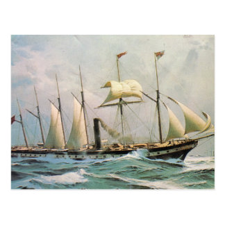 SS Great Britain at sea Postcard