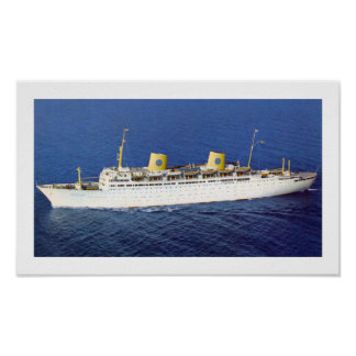 SS Gripsholm at Sea Poster