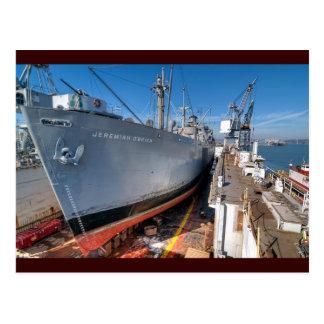SS Jeremiah O'Brien Liberty Ship at Dry Dock Postcard