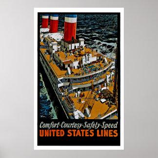 SS Leviathan Top Decks Poster