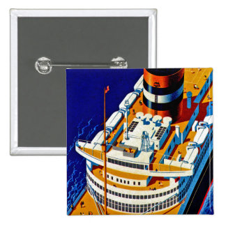 SS Nieuw Amsterdam 2 Inch Square Button