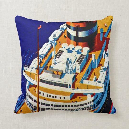 SS Nieuw Amsterdam Throw Pillow