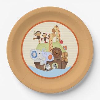 SS Noah / Noah's Ark Baby Shower 9 Inch Paper Plate