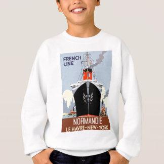 SS Normandie Vintage Poster Sweatshirt