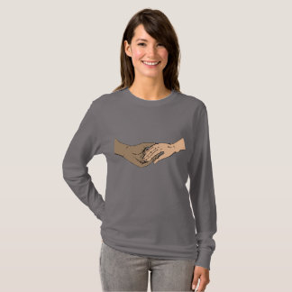 SSA Hands Classic Gray Long Sleeve T-Shirt
