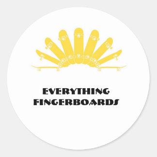 ssg-logo, Everything Fingerboards Round Sticker