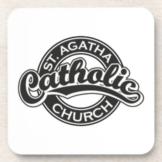 St. Agatha Catholic Church Black Coasters