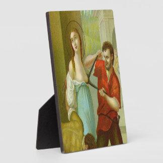 "St. Agatha (M 003) 5.25""x5.25"" Square Plaque"