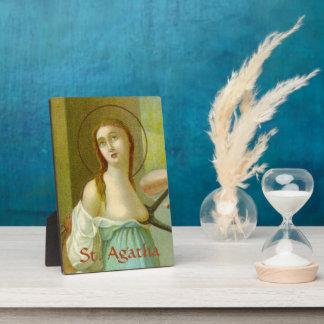 """St. Agatha (M 003) 5""""x7"""" Plaque"""