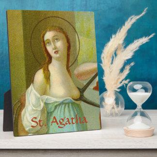 """St. Agatha (M 003) 8""""x10"""" Plaque"""