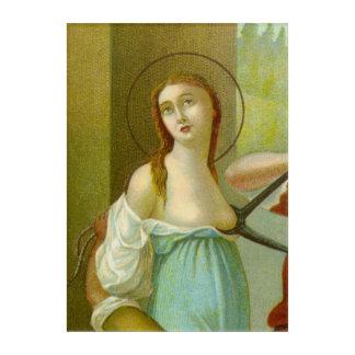 St. Agatha (M 003) Acrylic Wall Art