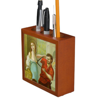 St. Agatha (M 003) Detail/Full Scene or vice versa Desk Organizer