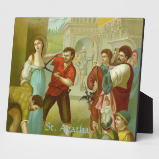 St. Agatha (M 003) Horizontal Plaque